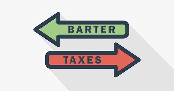 taxes on a barter exchange