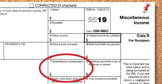 1099-MISC Form for Nonemployee compensation