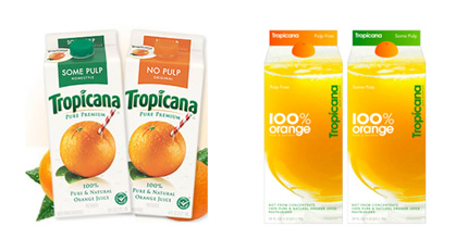 Old Tropicana Design -> New Tropicana Design
