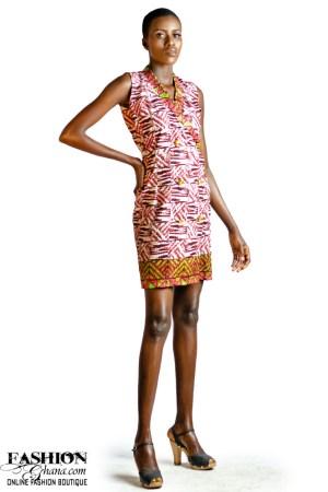 Sleevless African Print Jacket Dress