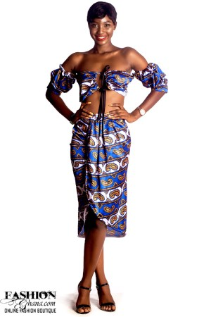 Mikoko Detachable Sleeve Off Shoulder Crop Top With Ruched Skirt