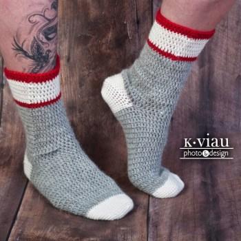 Workman, bas/socks, crochet