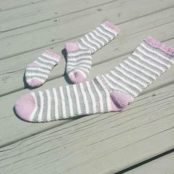 Ice Cream, bas/socks, crochet