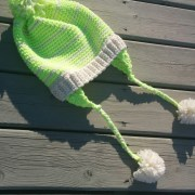 Key Lime slouch, crochet