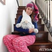 Sleeping Nancy, tuque/hat, crochet