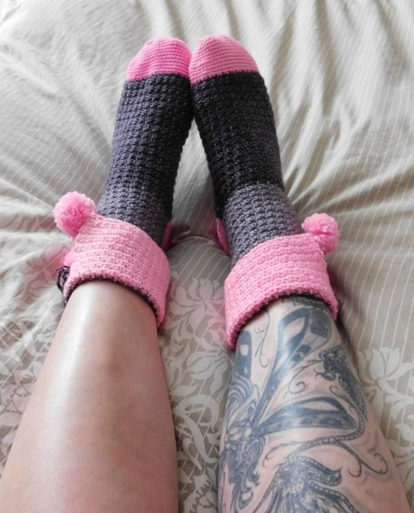 Confiture bas/socks, crochet