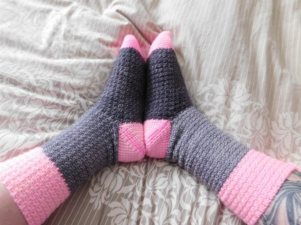 Confiture, bas/socks, crochet