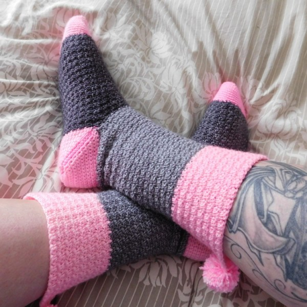 Confiture bas/socks, crochet