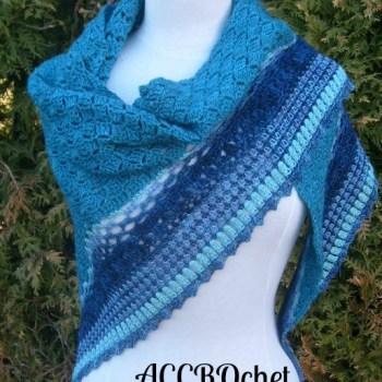 Summer Rain châle / shawl, crochet