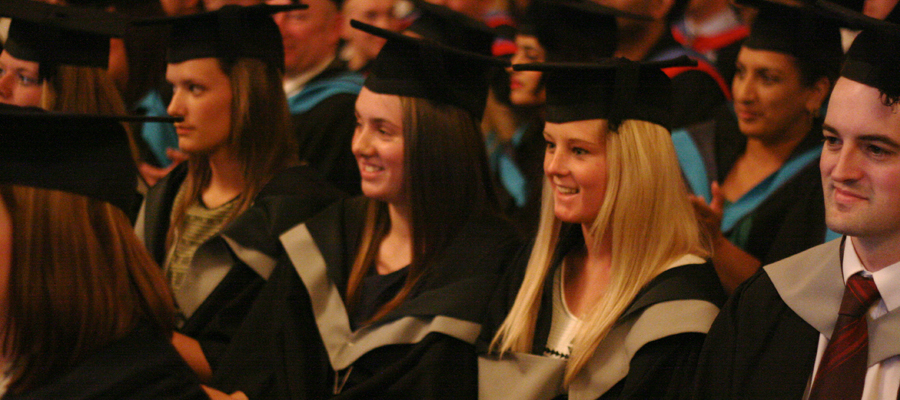 Higher Education graduation at accross college