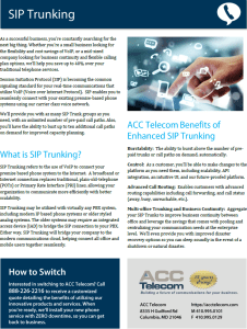 Sip Trunking brochure thumbnail picture