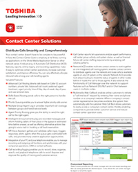 CALL CENTER SOFTWARE SOLUTIONS BROCHURE