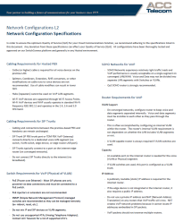 network specifications and configurations for deploying a voice over IP, cloud, or hosted pbx
