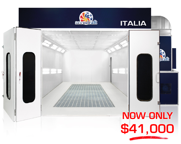 Accudraft Italia Downdraft Paint Booth Only $41000 Promotional Price
