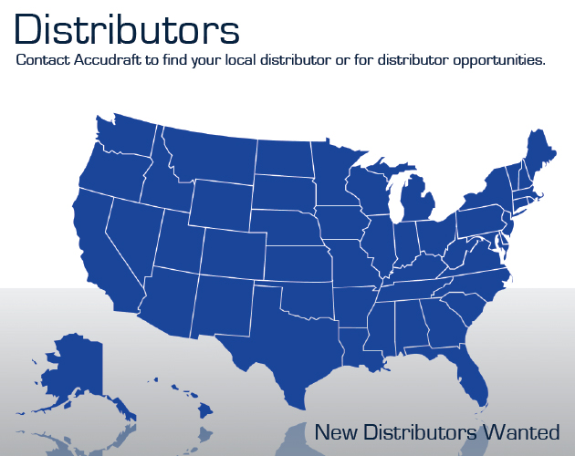 Accudraft Paint Booth Distributors Map