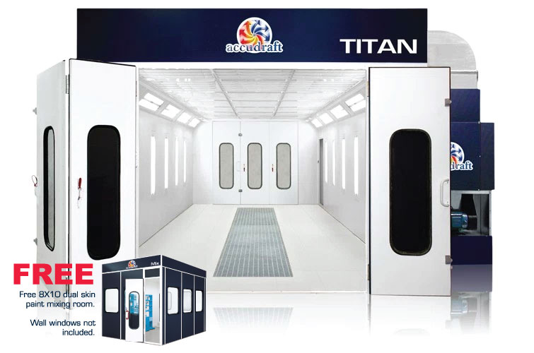 TITAN-Paint-Booth-Product-Photo-with-Free-Paint-Mixing-Room-755x500