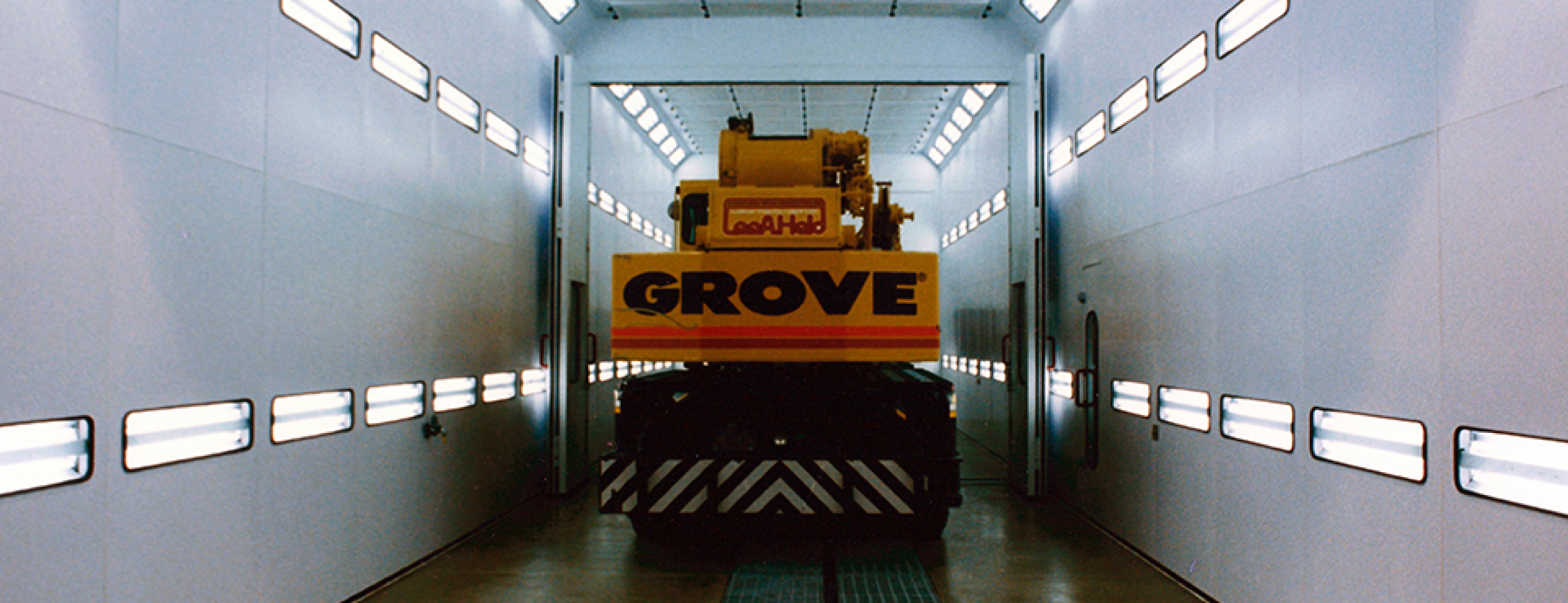 Accudraft TX Truck Paint Booth for Construction Equipment