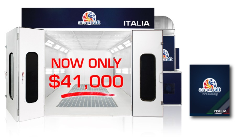 Accudraft-ITALIA-Downdraft-Paint-Booth-$41000-Promotion---Brochure NOW ONLY $41,000