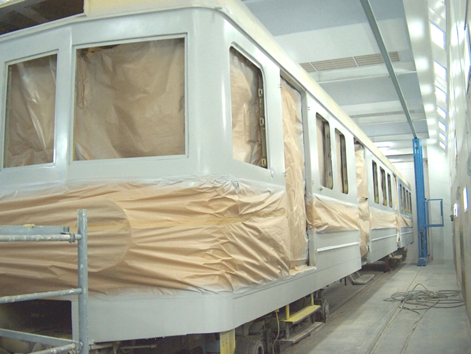 Paint Booths for the Railcar finishing industry