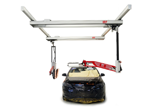 Accudraft Infrared Curing Rail Mounted System