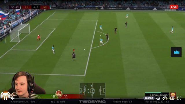 Twitch stream pour FIFA 20