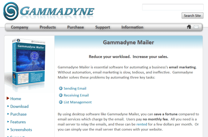 Gammadyne_homepage
