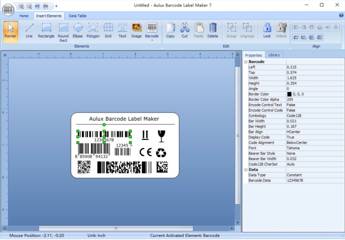 Aulux Barcode Label Maker