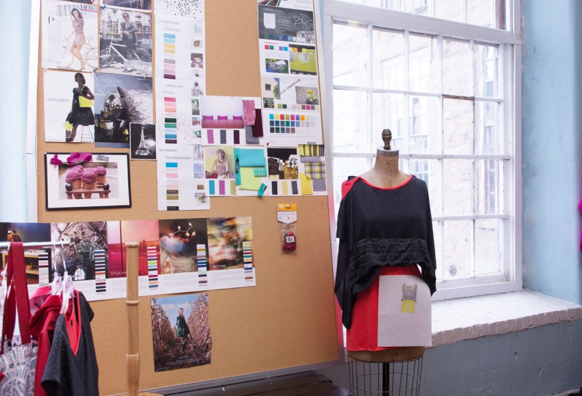 Dress form and mood board