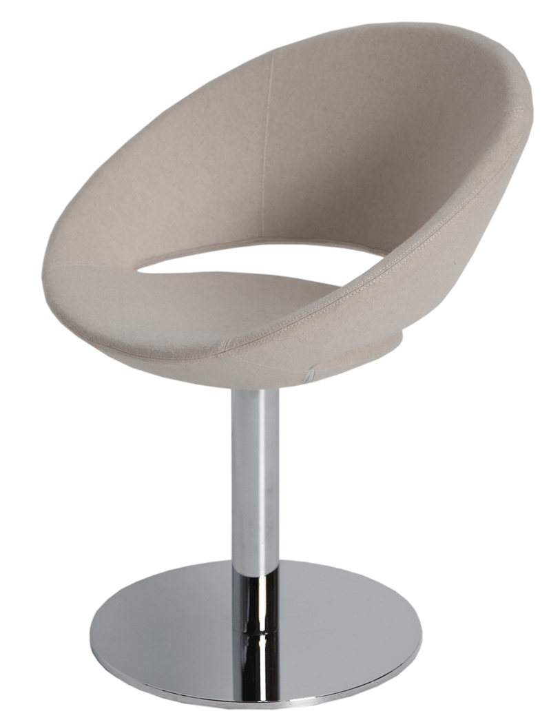 Crescent Round Dining Chair Swivel Soho Concept Furniture