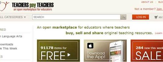 TeachersPayTeachers:  A Marketplace for Teachers to Sell Their Lesson plans and other Lesson Resources