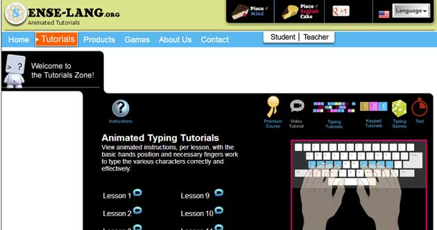 free typing games and lessons