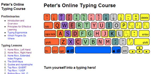 free typing lessons and games