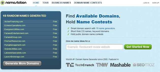 create a domain name