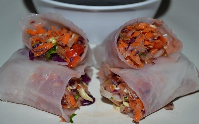 vegetarian spring rolls recipe2