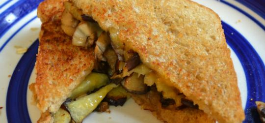 Creamy Eggplant and Mushroom Monte Cristo Sandwich Recipe