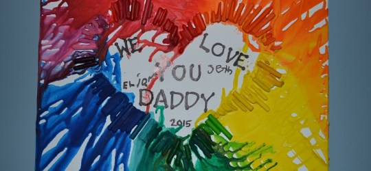 Father's Day Crayon Art Present