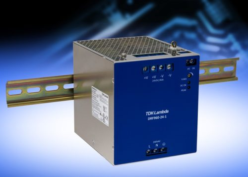 DRF960-24-1 – Compact high-power DIN rail power supply