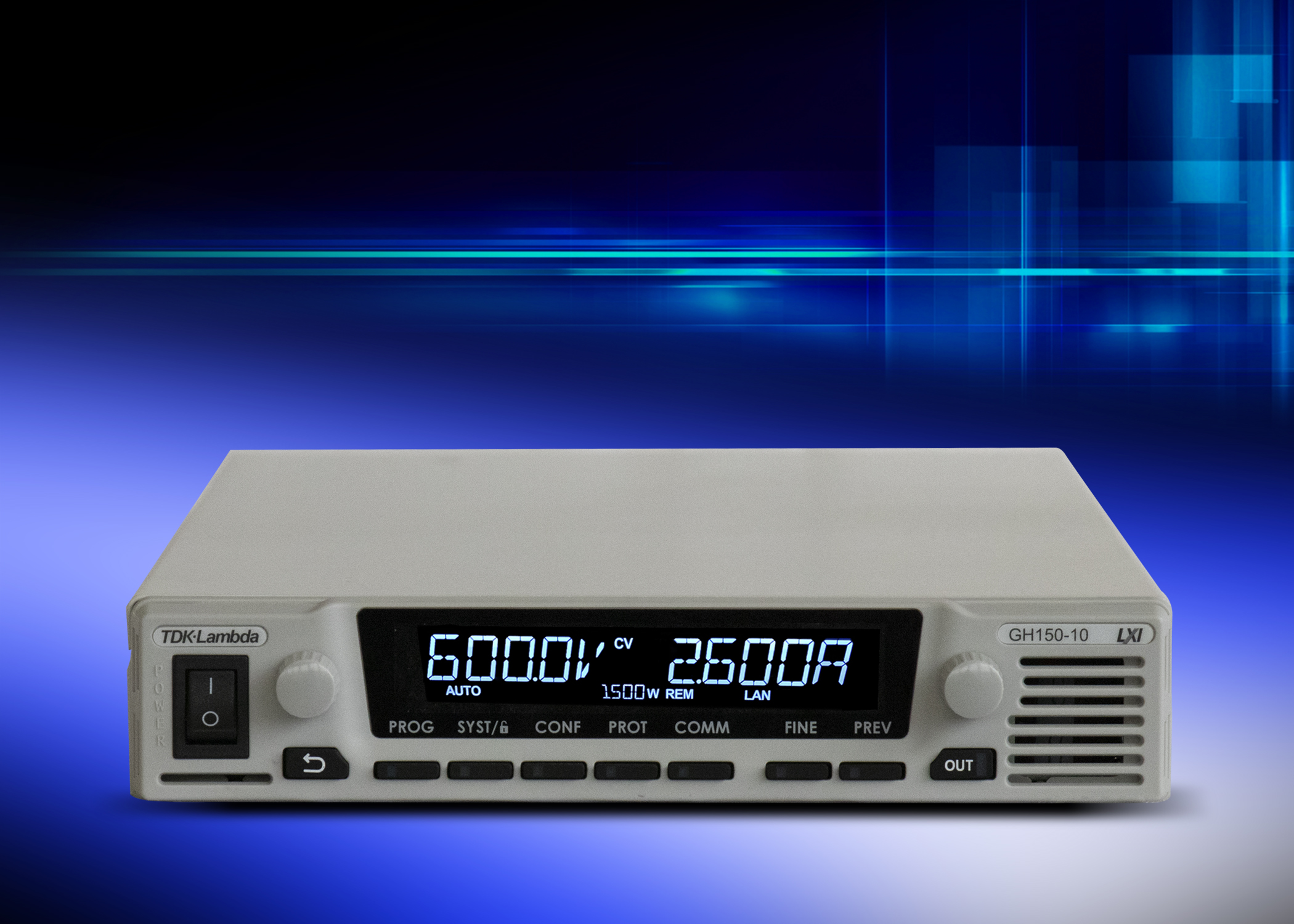 GH – 1U half-rack 1.5 kW Programmable Power Supply