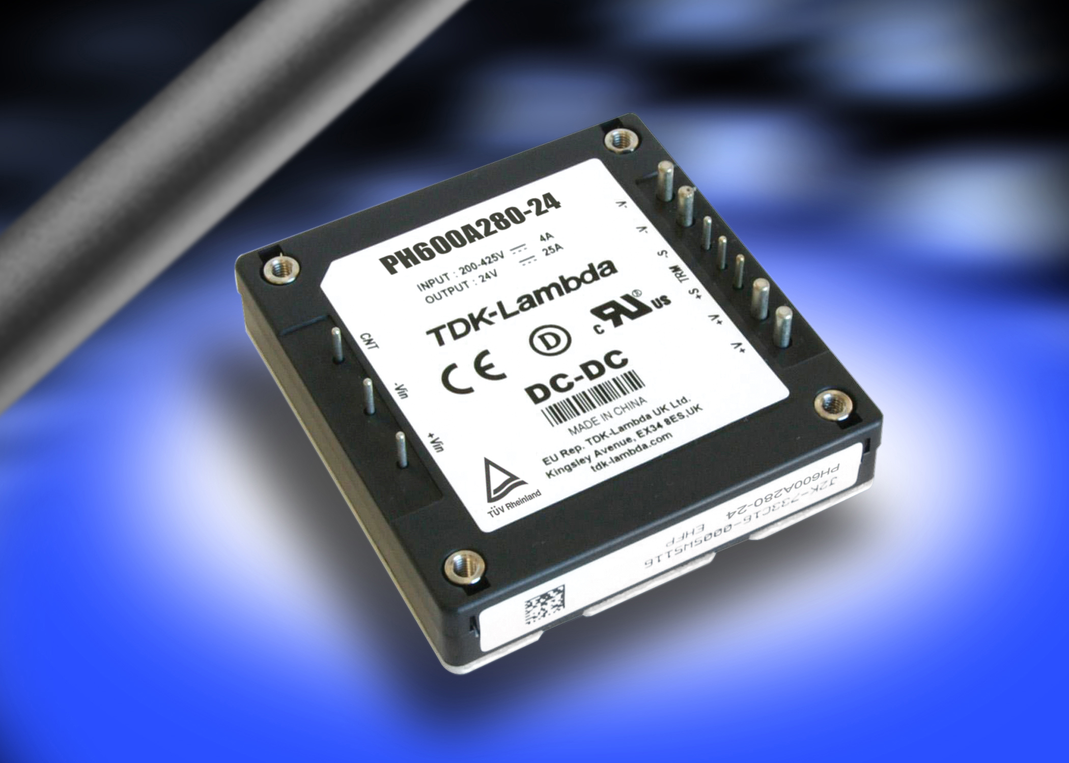 PH600A280‑24 – 200 to 425 V 600 W half-brick DC-DC converter