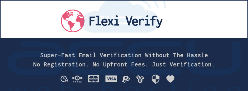 Flexi Verify - Flexible Email Verification