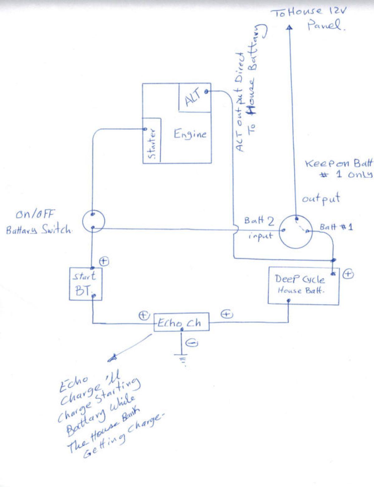sailboat wiring diagram for xantrex echo-charge – ac dc marine inc.  ac dc marine inc.