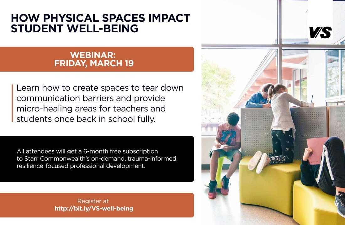 Upcoming Webinar: How Physical Spaces Impact Well-Being as Students Return to School