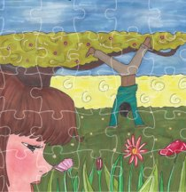 Carte postale puzzle