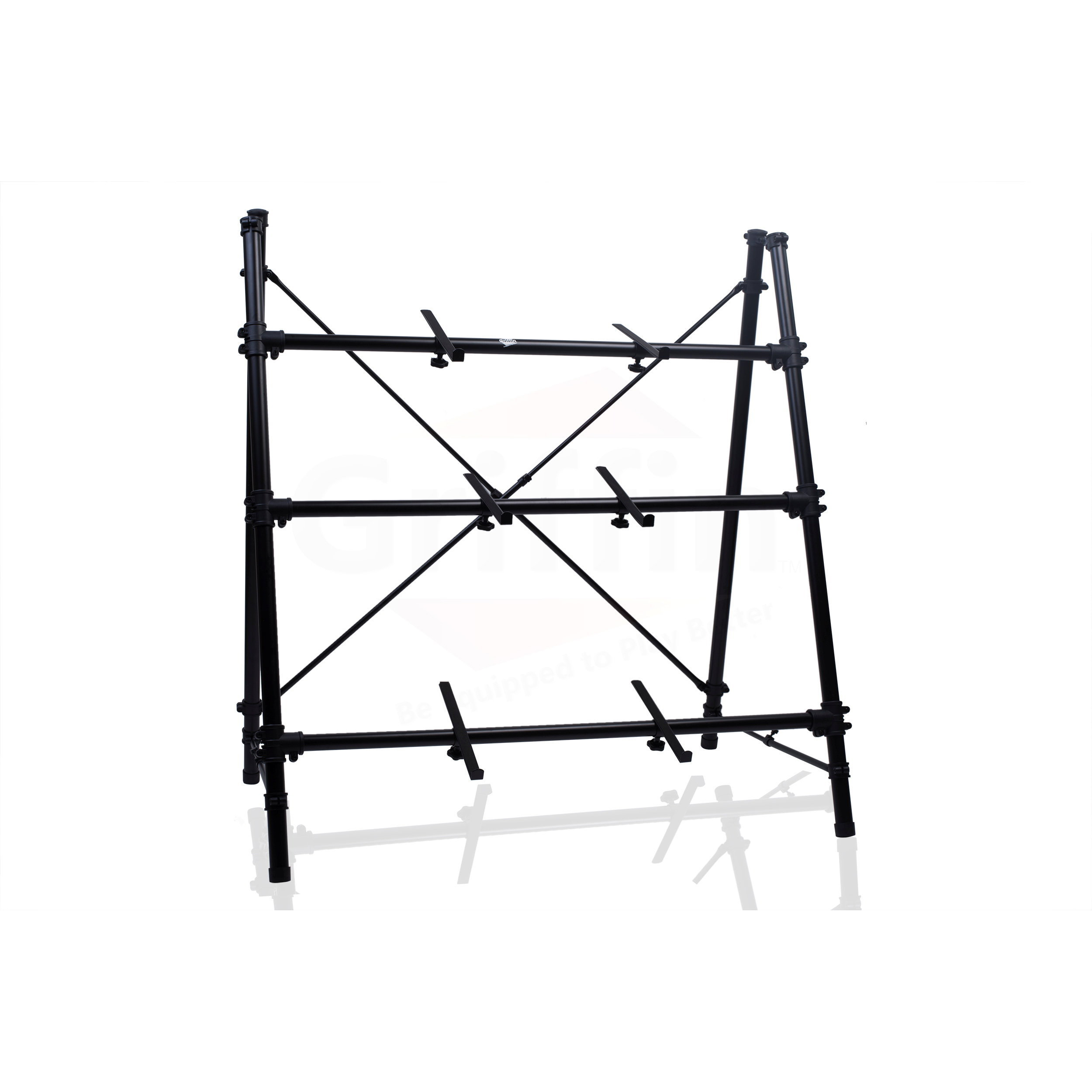 Triple Keyboard Stand 3 Tier A Frame Holder Studio Mount