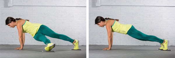 Plank with knee extension