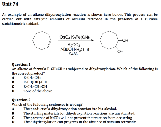 gamsat sample chemistry questions