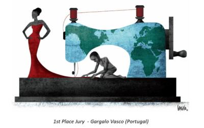 Vasco Gargalo-cartoon escravatura e trabalho forçado-ACEGIS
