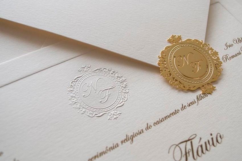 Laços, faixas e lacres para convites