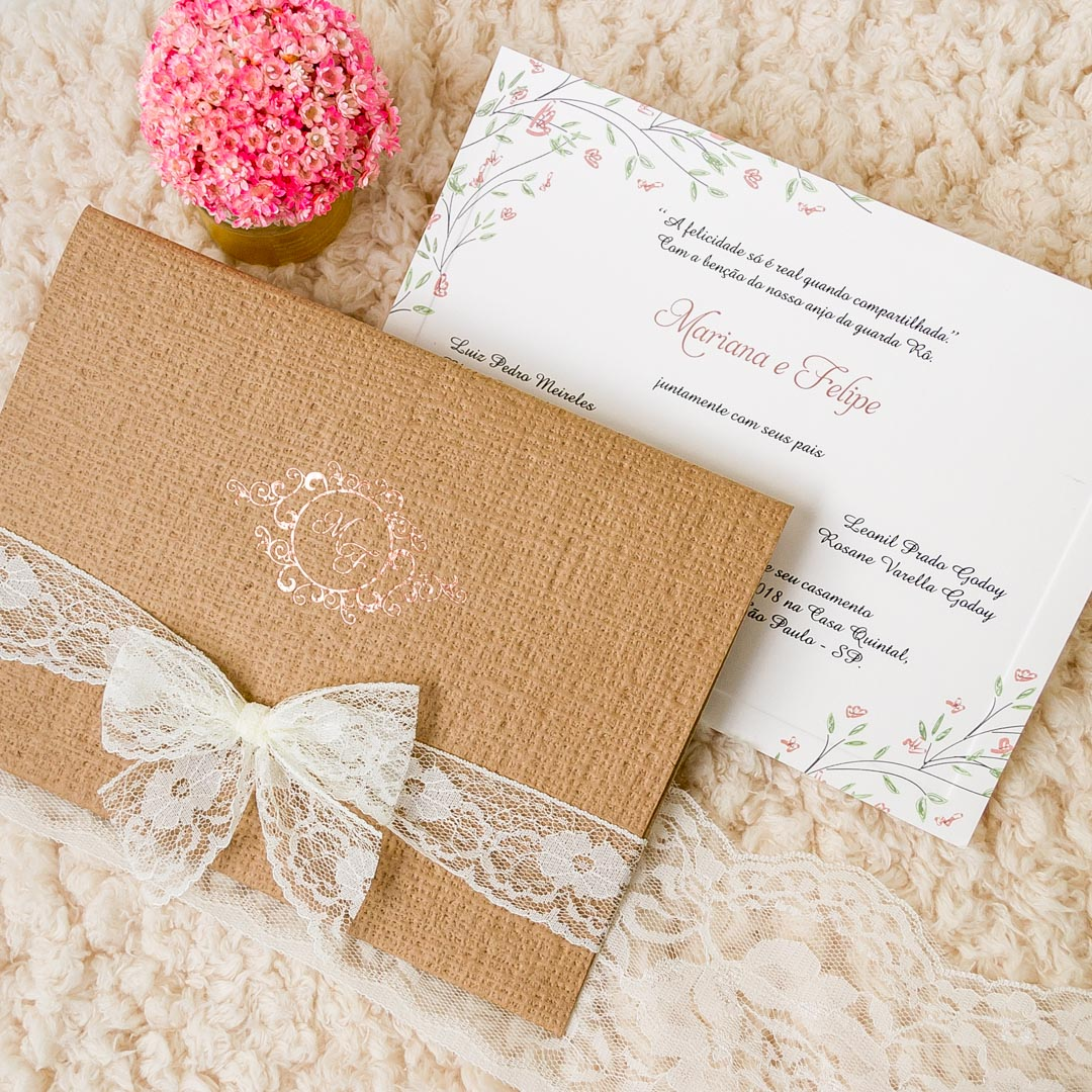 Convite para casamento ao ar livre
