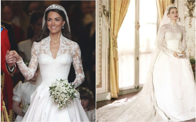 Vestido de Noiva Tradicional Kate Middleton e Grace Kelly